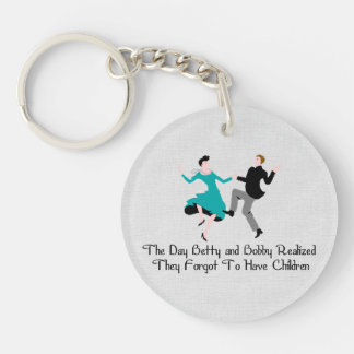 Happy To Be Child Free Keychain