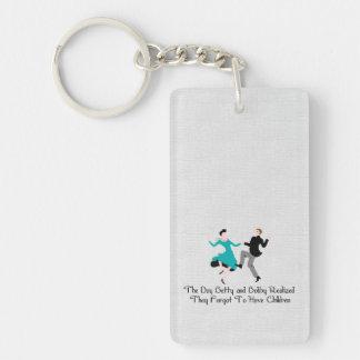 Happy To Be Child Free Single-Sided Rectangular Acrylic Keychain