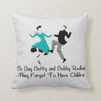 Happy To Be Child Free Throw Pillow