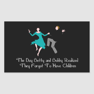 Happy To Be Child Free Rectangular Sticker