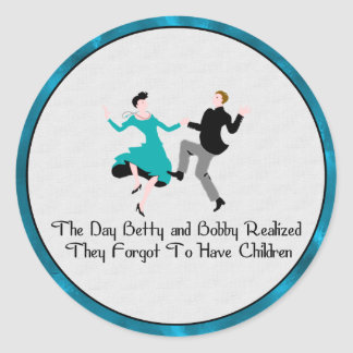 Happy To Be Child Free Classic Round Sticker