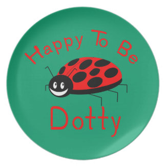 Happy to be Dotty Dinner Plate