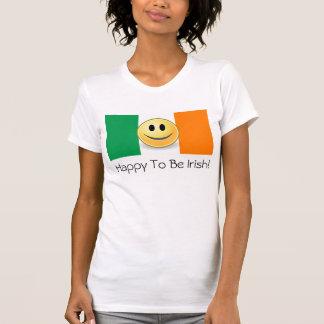 Happy To Be Irish Smiley Face T-Shirt