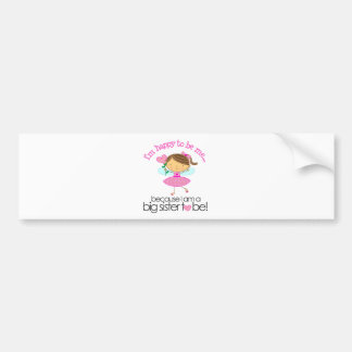 Happy to be me Big Sister pink fairy Bumper Sticker