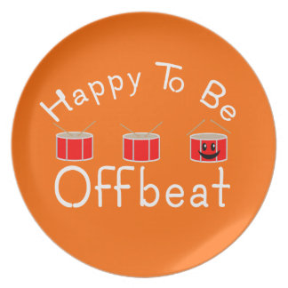 Happy to be Offbeat Melamine Plate