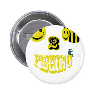 happy to bee fishing button