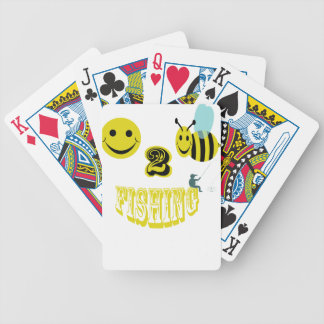 happy to bee fishing bicycle playing cards