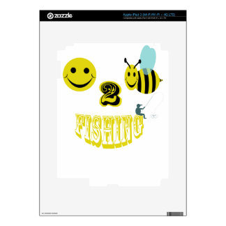 happy to bee fishing skins for iPad 3