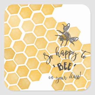 Happy to BEE in your class stickers