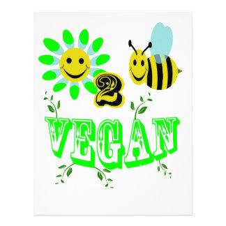 happy to bee vegan letterhead