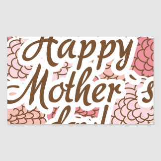 happy to mother day rectangular sticker