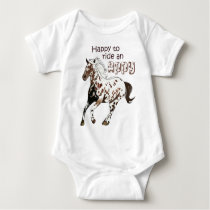 Happy to Ride an Appy Baby Bodysuit