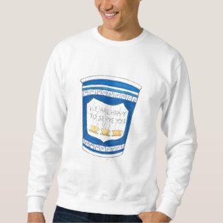 Happy to Serve You Greek Coffee Cup Sweatshirt