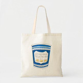 Happy To Serve You NYC Deli Coffee Cup Tote