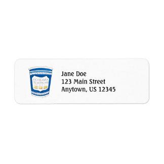 Happy To Serve You NYC Greek Coffee Cup Label Return Address Label
