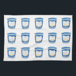 "Happy To Serve You NYC Greek Diner Blue Coffee Cup Hand Towel<br><div class=""desc"">Features an original marker illustration of a blue Greek diner coffee cup,  with WE ARE HAPPY TO SERVE YOU in a fun font.  Don&#39;t see what you&#39;re looking for? Need help with customization? Contact Rebecca to have something designed just for you.</div>"