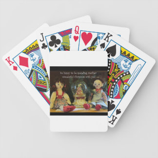 Happy to spend another Christmas with you. Bicycle Playing Cards