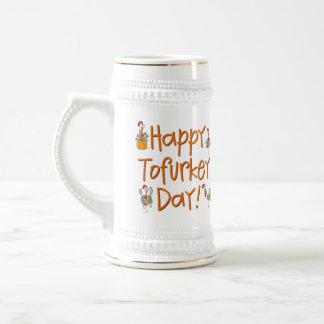 Happy Tofurkey Day Gift Beer Stein