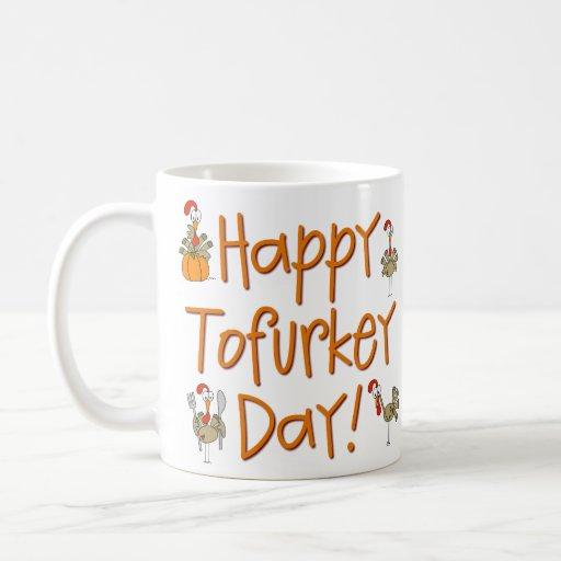 Happy Tofurkey Day Gift Classic White Coffee Mug