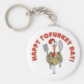 Happy Tofurkey Day Gift Keychain