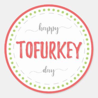 """Happy tofurkey day"" labels"