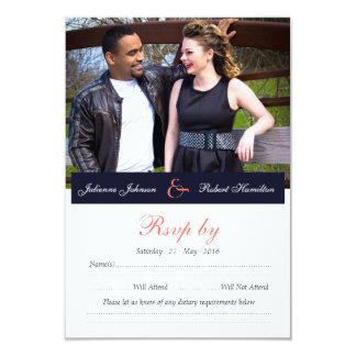 Happy Together   Photo Wedding RSVP Card