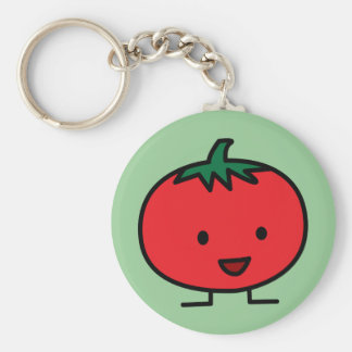 Happy Tomato Red Vegetable Fruit Keychain