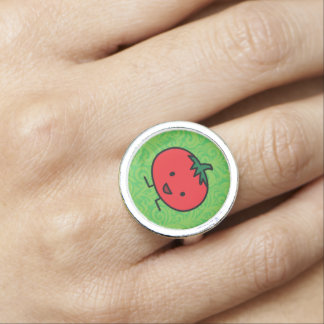 Happy Tomato Red Vegetable Fruit Photo Rings