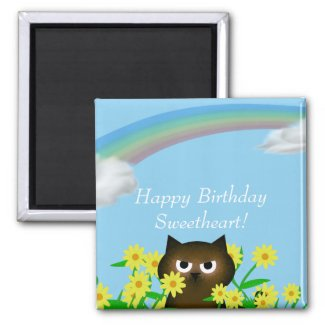 Happy Toons Happy Birthday Magnet magnet