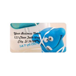 Happy Tooth Address Label