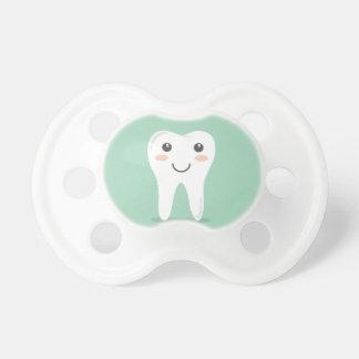 Happy Tooth cartoon dentist brushing toothbrush Pacifier