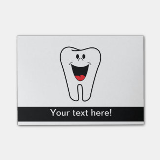 Happy tooth cartoon post-it® notes