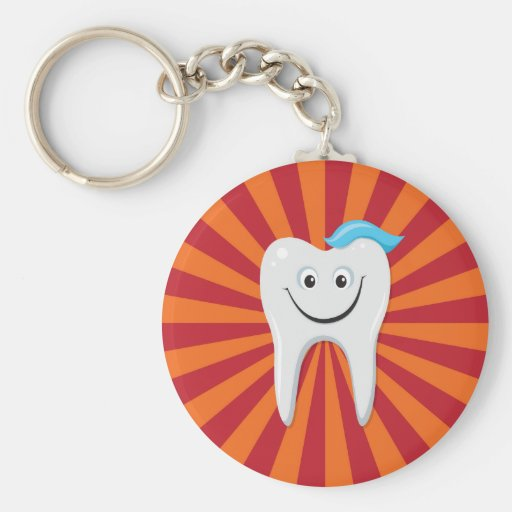Happy tooth key chain