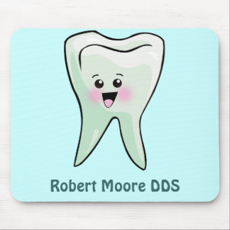 Happy Tooth Personalized (Any Name) Mouse Pad