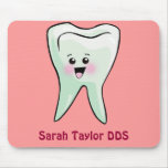 Happy Tooth Personalized (Any Name) Mouse Pads
