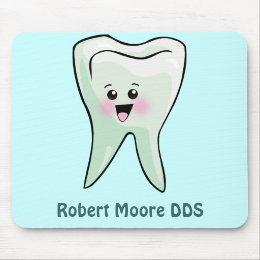 Happy Tooth Personalized (Any Name) Mousepad