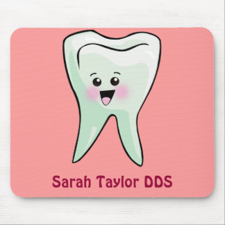 Happy Tooth Personalized Any Name Mouse Pads