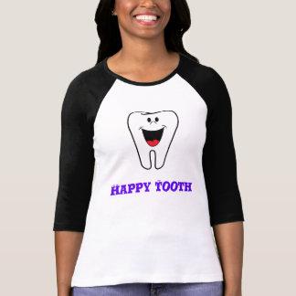 happy tooth raglan t shirt