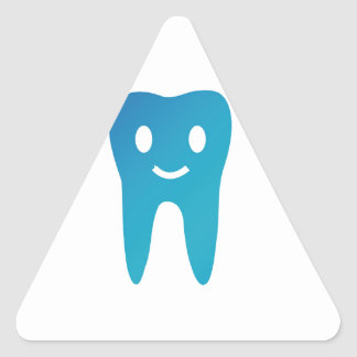 Happy tooth triangle sticker