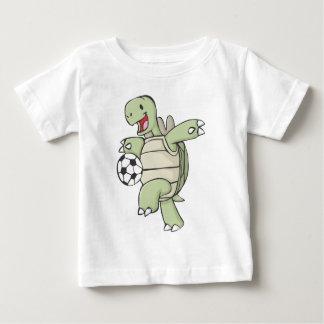 Happy Tortoise Playing Soccer Baby T-Shirt