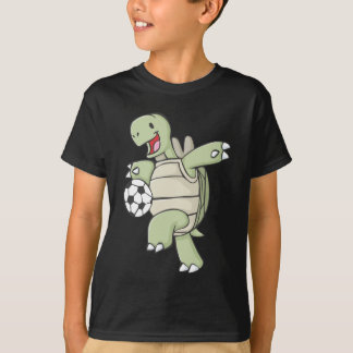 Happy Tortoise Playing Soccer T-Shirt