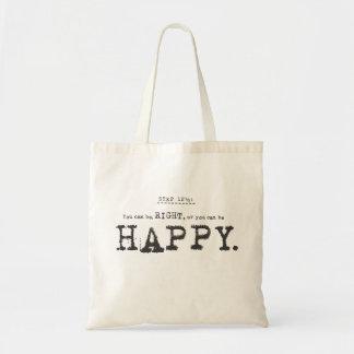 happy. tote bag
