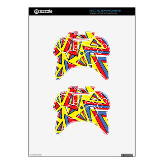 Happy Tough Easy Moving Xbox 360 Controller Decal