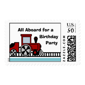 Happy Track Train Postage