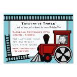 Happy Tracks Railroad Invitation/ Red