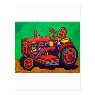 Happy Tractor by Piliero Postcard