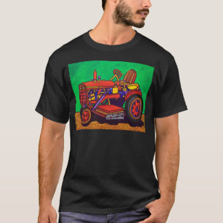 Happy Tractor by Piliero T-Shirt
