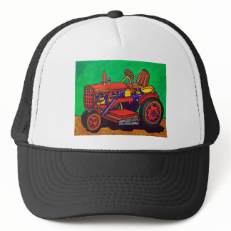 Happy Tractor by Piliero Trucker Hat