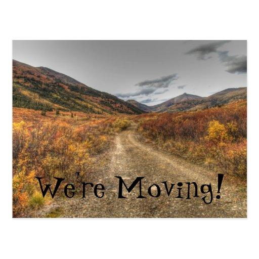 Happy Trail; Change of Address Postcards