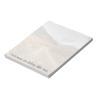 Happy Trail; Customizable Note Pad